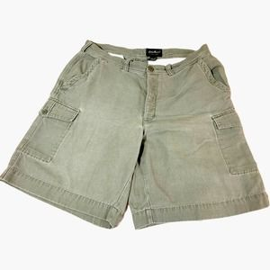 Eddie Bauer Cargo Shorts Mens 38 Button Fly Cotton